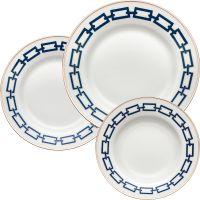 Set 6 piatti catene blu