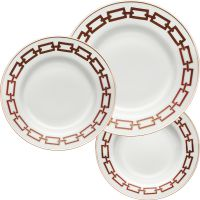 Set 6 piatti catene rossi