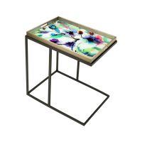 Tavolino rettangolare con vassoio
