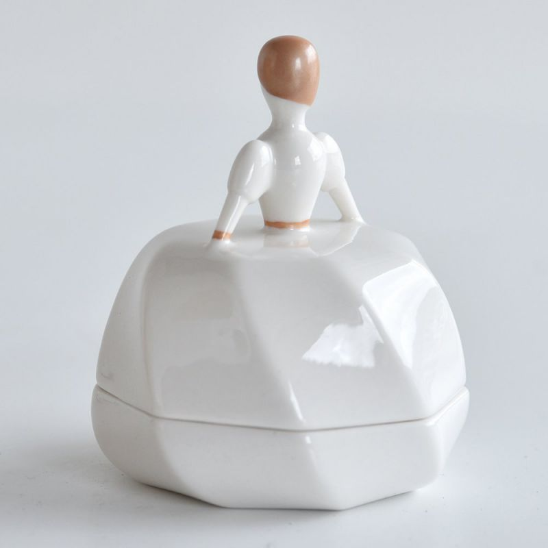 Bomboniera per confetti bianca petite mariée