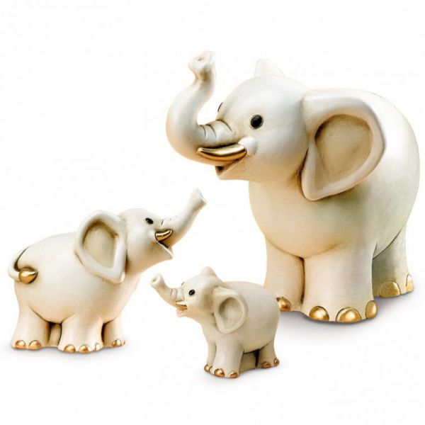 Bomboniera elefante oro 11cm
