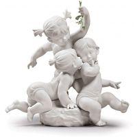 statua bacio sotto il vischio