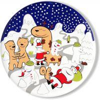 Piatto panettone natalizio