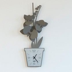 orologio orchidea parete fango