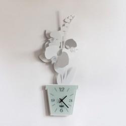 orologio orchidea parete bianco