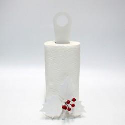 porta rotolo holly xmas bianco  diametro 15x33h