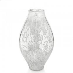 floreal vaso altezza 39 cmtrasparente decoro specchiato