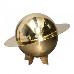 coppa con coperchio in ottone cosmic diner lunar