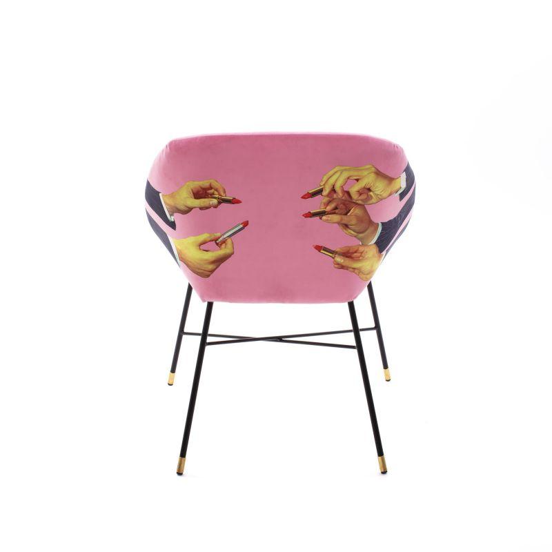 Poltroncina rosa rossetti toiletpaper