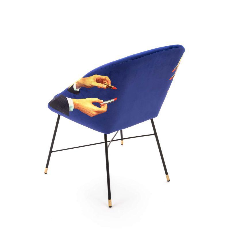 Poltroncina blu rossetti toiletpaper