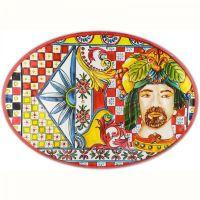 Piatto di portata rosso 50cm Sicily