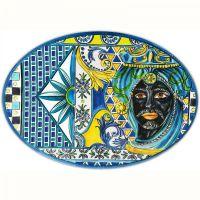 Piatto di portata blu 50cm Sicily
