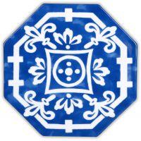 Set 10 piastrelle blu maiolica Sicily