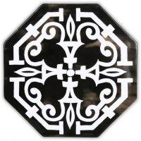 Set 10 piastrelle nere maiolica Sicily