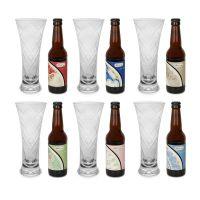 Set 6 bicchieri birra + 6 birre artigianali
