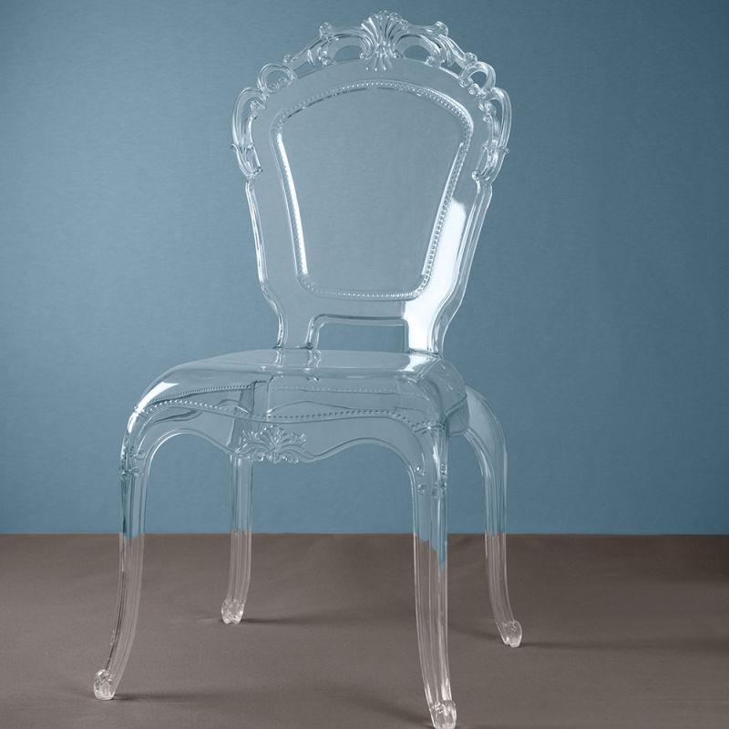 sedia barocca in policarbonato