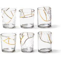 Set 6 bicchieri Kintsugi