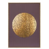 Quadro viola e oro con cornice 97cm
