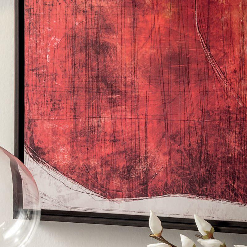 Quadro rosso con cornice 104cm