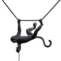 lampadario da esterno swing nero monkey lamp