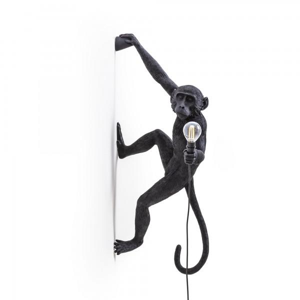 Lampada da muro mano destra da esterno nera monkey lamp