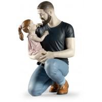 Statua padre e figlia