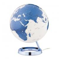 Lampada mappamondo blu 30cm