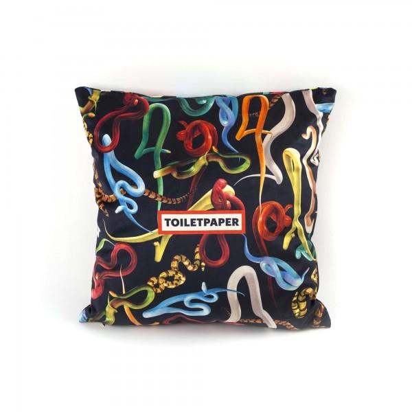 Coppia cuscini serpenti toiletpaper