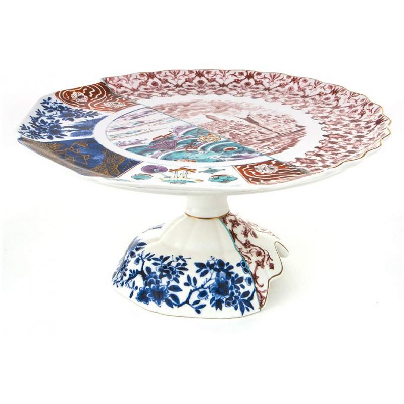 alzata in porcellana 33cm moriana hybrid
