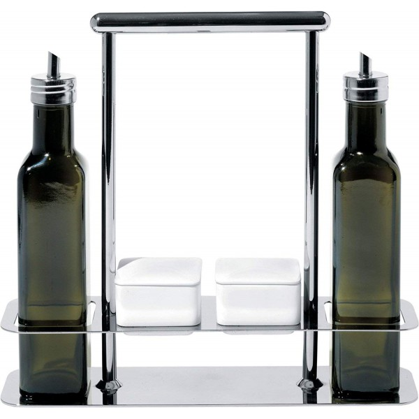 set condimenti con bottiglie olio