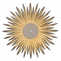 Orologio da parete a forma di ampia raggiera Sting bronzo oro trasparente 60cm