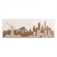 pannello new york bianco/beige/nocciola