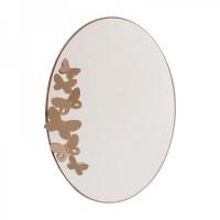 specchio butterfly ovale beige