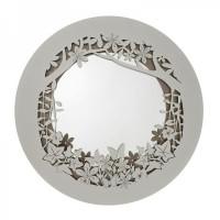 specchio nastri ovale bianco