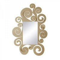 specchio temple grande beige