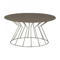 tavolino filo ovale beige