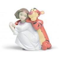statuina un abbraccio di tigro