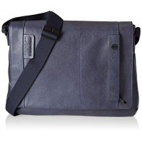 messenger in pelle blu