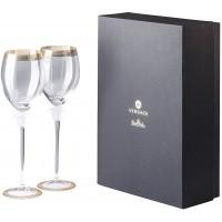 Set regalo 2 calici vino rosso Medusa d'Or