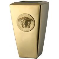 Vaso 32 cm Medusa gold
