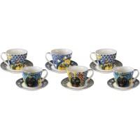 Set 6 tazze da caffè blu Sicily