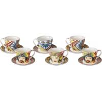 Set 6 tazze da caffè rosse Sicily