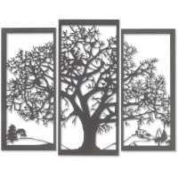Pannello albero della vita ardesia