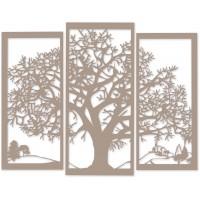 Pannello albero della vita beige