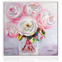 quadro peonie rosa