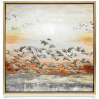 quadro lucido volo di gabbiani