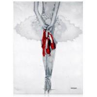 quadro ballerina sulle punte