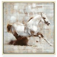 quadro lucido cavallo bianco