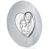 Quadro in argento e Swarovski maternità