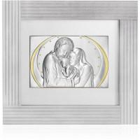 Quadro in argento e Swarovski sacra famiglia